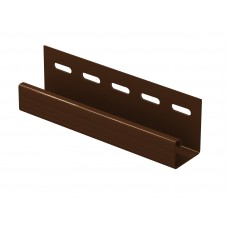 Планка J-trim для сайдингу U-Plast Classic коричнева