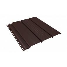 Софіт U-Plast Classic панель з частковою перфорацією (коричневий)
