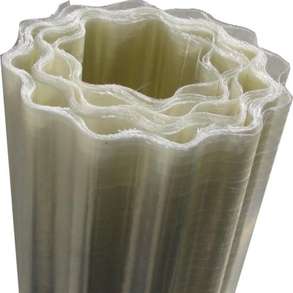 Прозорий армований шифер ВолноПласт 1,5x10 м безбарвна хвиля