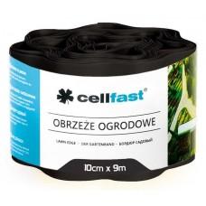 Xвилястий газонний бордюр Cellfast 0.1 х 9 м чорний