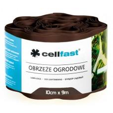 Xвилястий газонний бордюр Cellfast 0.1 х 9 м коричневий