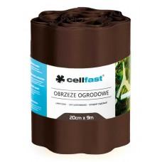 Волнистый газонный бордюр Cellfast 0.2 х 9 м коричневый