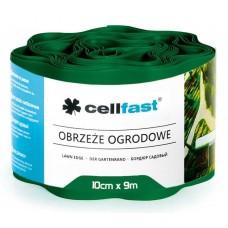 Xвилястий газонний бордюр Cellfast 0.1 х 9 м темно-зелений