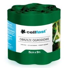 Волнистый газонный бордюр Cellfast 0.15 х 9 м темно-зеленый