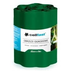 Волнистый газонный бордюр Cellfast 0.2 х 9 м темно-зеленый