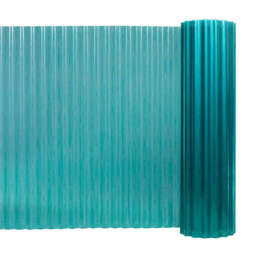 Прозорий гофрований шифер Fibrolux зелений 2 м