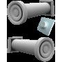 Комплект рекуператорів 2 Ventoxx Champion (Reventa RV-2-1 M) з металевою кришкою.