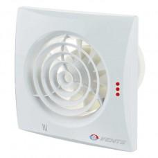 Вытяжной вентилятор ВЕНТС Квайт 150 Экстра ТН белый с обратным клапаном, датчиком влажности и таймером